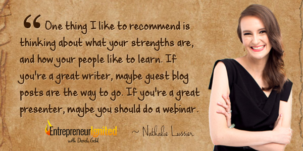 Nathalie Lussier explains how to start an email list