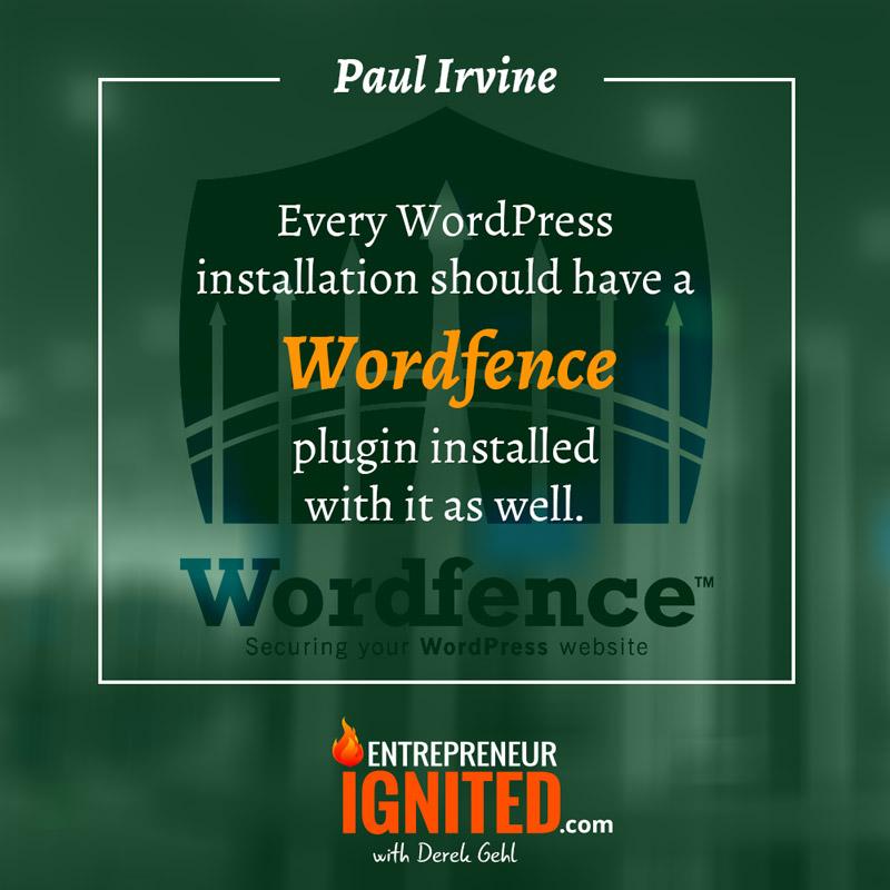 wordpress security tips Paul Irvine