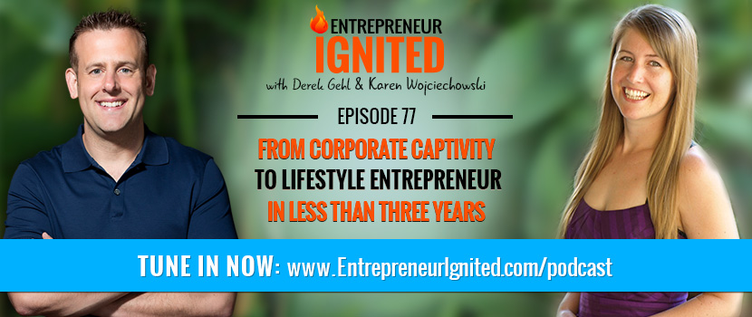 From Corporate Captivity To Lifestyle Entrepreneur In Less Than Three Years – With Karen Wojciechowski